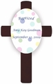 Polka Dot Children's Baptism/Christening Cross