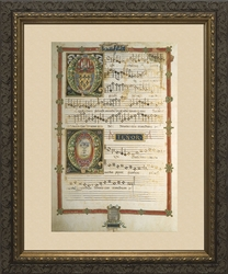 Polyphonic Hymns and Magnificats (Alto and Bass) - Framed Art