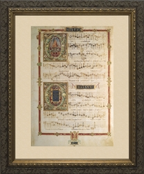 Polyphonic Hymns and Magnificats (Tenor and Soprano) - Framed Art