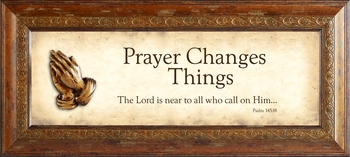 Prayer Changes Things Framed Christian Wall Decor