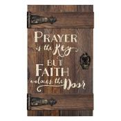 Prayer Is They Key Wood Pallet Sign - Christian Home & Wall Decor