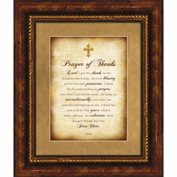 Prayer of Thanks Christian Wall Art