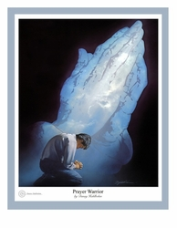 Prayer Warrior by Danny Hahlbohm - Unframed Christian Art