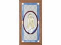 Praying Hands Religious Stained Glass Panel
