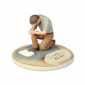 Praying Man Devoted Sculpture