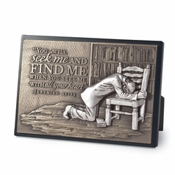 Praying Man Sculpture Plaque - Christian Home Decor