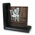 Praying Woman Bookend Plaque - Christian Home Decor