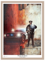 Protect And Serve by Danny Hahlbohm - Unframed Christian Art