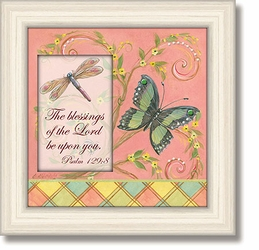 Psalm 129:8 Framed Tabletop Home Decor Art by Heartfelt