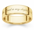 Psalm 23 Bible Verse Ring - Yellow Gold