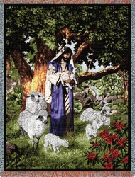 Psalm 23 Christian Tapestry Throw