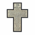Psalm 23 Cast Stone Wall Cross - Christian Wall Decor