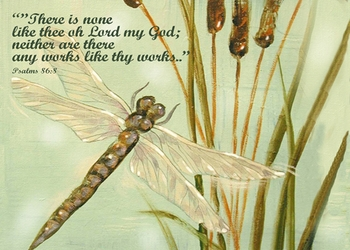 Psalm 86:8 Dragonfly - Inspirational Images by Ruth Bush