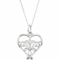 Pure in Heart Necklace Inspirational Necklace