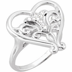 Pure in Heart Sterling Silver Ring