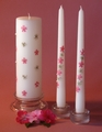 Queen Anne Pink Swarovski Full Design 3x9 Unity Candle & Tapers