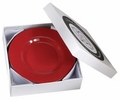 "Seet of 4 Red 8.5"" Accent Plates"