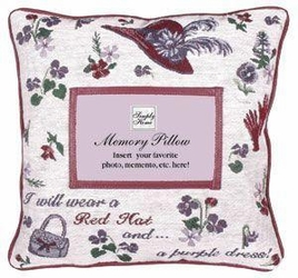 Red Hats Memory Pillow