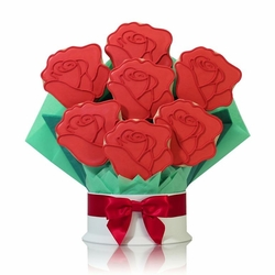 Red Roses Cookie Bouquet