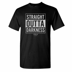Straight Outta Darkness Christian Tee
