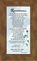 Remembrance Poem Sympathy Gift for Female