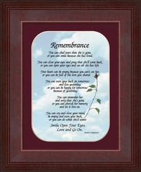 Remembrance Sympathy Poem - Bereavement Gift for Female