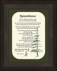 Remembrance Sympathy Poem - Bereavement Gift for Male