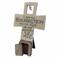 Resurrection Sculpture Cross Christian Wall Decor