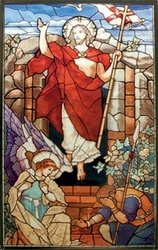 Resurrection Victorious Stained Glass Art