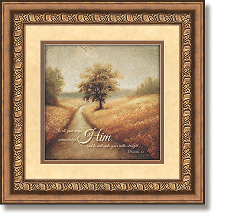 Road   Proverbs 3:6 Framed Christian Wall Decor