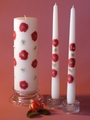 "Rose Swarovski Full Design 3x9 Unity Candle and 12"" Tapers"
