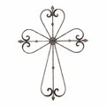 Rust Black Metal Wall Cross - Christian Home & Wall Decor
