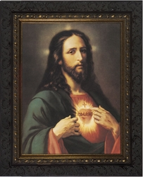Sacred Heart (Ornate Dark Frame) - 4 Framed Options