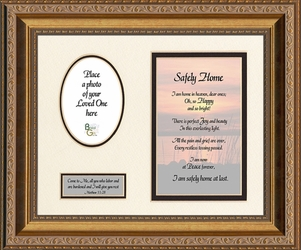 Safely Home Sympathy Framed Art