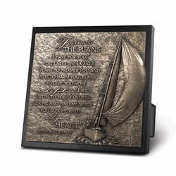 Sailboart Journey Sculpture Plaque - Christian Home Decor
