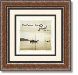 Sailboat - Psalm 46:10 Framed Christian Wall Decor