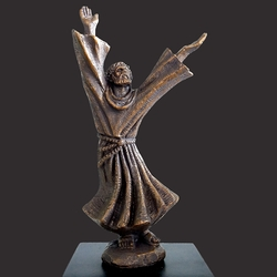 Saint Francis In Exultation Christian Sculpture by Timothy P. Schmalz