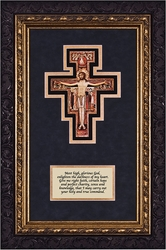 San Damiano Crucifix with Prayer Framed