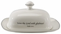 Scripture Tableware Covered Butter Dish