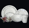 Scripture Tableware Faith Collection