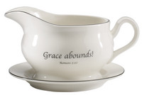 Scripture Tableware Gravy Boat with Stand