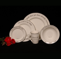 Scripture Tableware Health & Healing Collection