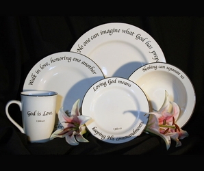 Scripture Tableware Love Collection