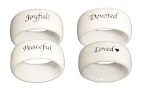 Scripture Tableware Napkin Rings - 2 Options Available