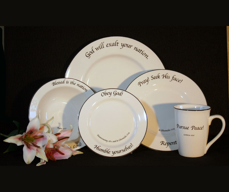 Christian Art and Gifts & Scripture Tableware Patriotic Collection