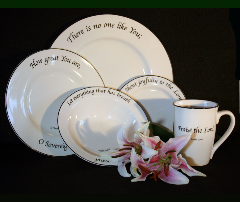 Scripture Tableware Praise Collection & Scripture Tableware Praise Collection | LordsArt