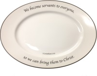 Scripture Tableware Small Oval Platter