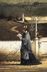 Sea Captain's Wife Praying by Charles Wysocki - Unframed Christian Art