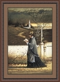 Sea Captain's Wife Praying by Charles Wysocki - Framed Christian Art