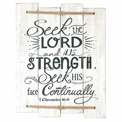 Seek The Lord Wood Pallet Sign - Christian Home & Wall Decor